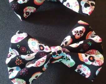Day of the dead hair bows 2 for 7