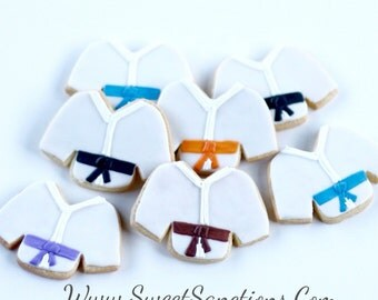 Half Dz. Karate Gi Cookies! Martial Arts, Birthdays, Gifts, Favors and More!