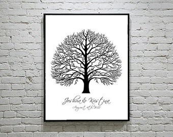 Baby Shower / Wedding Thumbprint Tree Guest Book Alternative