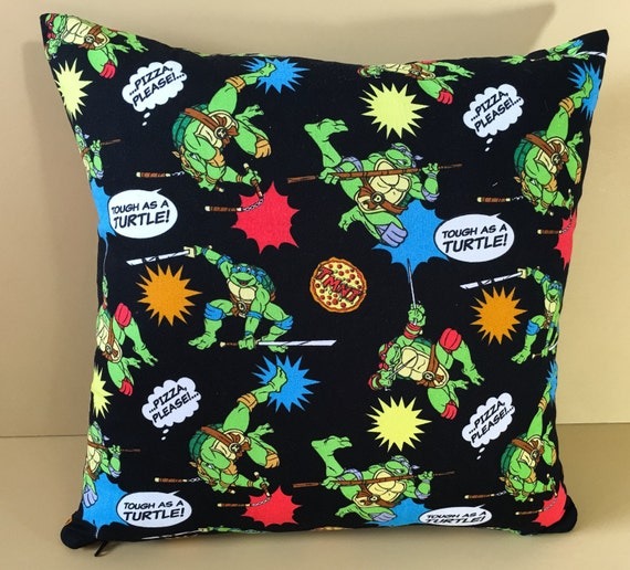 Ninja Turtle Decorative Pillow : Items similar to Toss Pillow Teenage Mutant Ninja Turtles - TMNT Decorative Plush Pillow Ninja ...