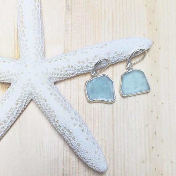 Sea Green Seaglass Earrings