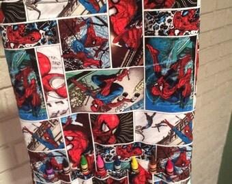 Spiderman Coloring Tote Set