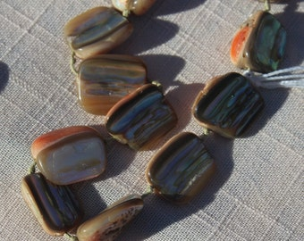 Large abalone necklace