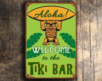 TIKI BAR SIGN, Tiki Bar Signs, Vintage style Tiki Bar sign, Home Bar Decor, Tiki Decor, Man Cave, Tiki Bar Decor, Tiki Bar, Home Wet Bar