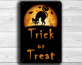 HALLOWEEN SIGNS, Halloween Trick or Treat Sign, Trick or Treat Sign, Happy Halloween sign, Halloween trick or treat signs, Halloween Decor