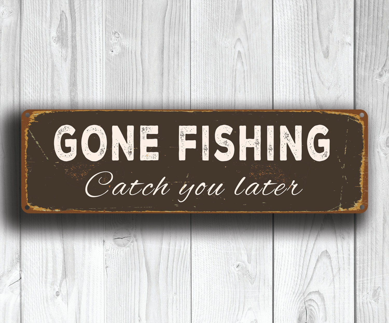 GONE FISHING SIGNS Gone Fishing Vintage Style Gone Fishing