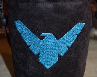 Dice Bag custom Embroidery BATMAN NIGHT WING