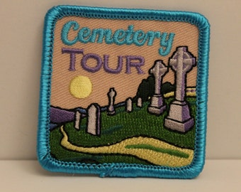 Cemetery Tour Patch (1) - patch spooky halloween ghost