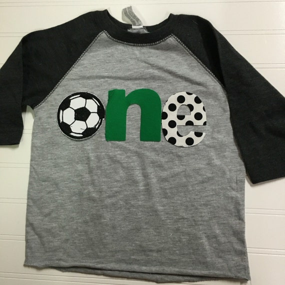 1st birthday soccer shirt, boys one birthday shirt, 1st birthday sports shirt, baby raglan shirt, soccer ball, first birthday