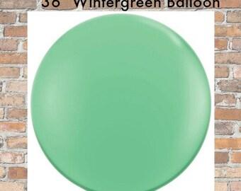 """Jumbo Wintergreen 36"""" Balloon Large Green Balloon Wedding Birthday Christmas Shower Photo Op Balloon"""