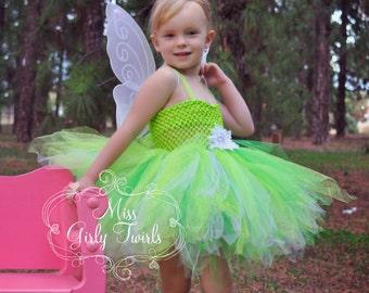 Fairy green tutu dress costume