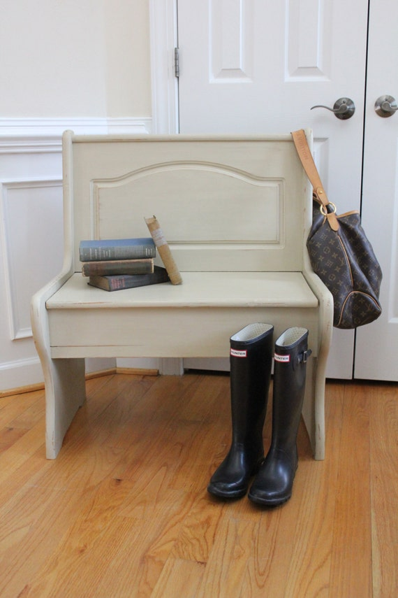 Chalk Paint Foyer Table : Entryway bench annie sloan chalk paint country grey