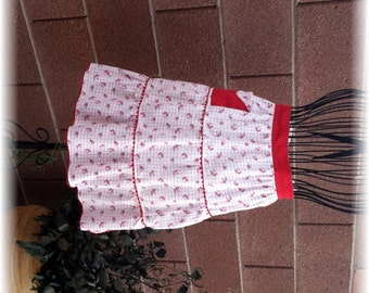 RED POCKET APRON  - Up to Size 14