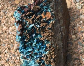 Rare Lazulite in matrix with Siderite from Yukon Territory, Canada