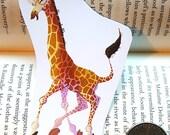 Happy Prancing Giraffe Sticker or Magnet