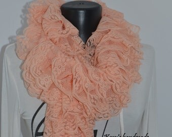 Lace Scarf, Salmon