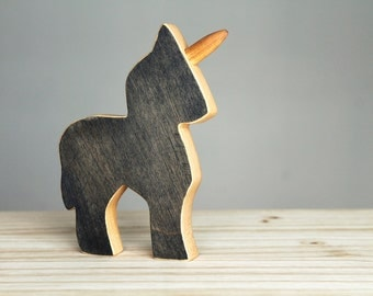 Wooden unicorn, wooden toy, little pony, eco-friendly toy