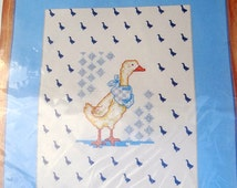 Prints Charming Needles n Hoops Duck with Kerchief Cross Stitch Kit FREE Shipping USA