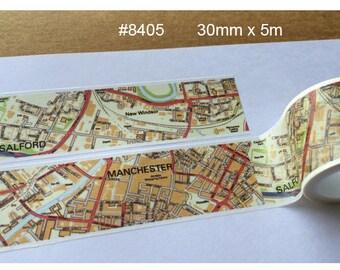 Map Washi Tape -- Japanese Washi Tape -Deco tape-- 30mm x5M