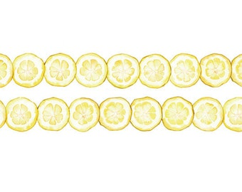 Lemon Washi Tape -- Japanese Washi Tape -Deco tape-- 20mm x7M