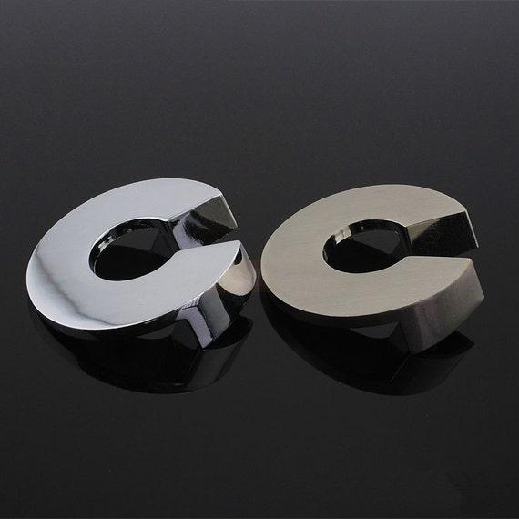 Aparador pequeño tira cajón manijas espejo plata cromo níquel acero ...