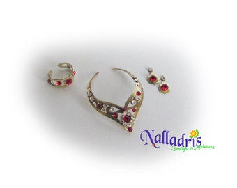Miniature jewelry set