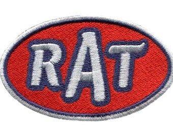 RAT Rat Rod Hot Rod Patch Badge Auto Old Car Classic Car