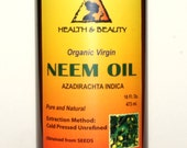 16 oz NEEM OIL UNREFINED Organic Carrier Cold Pressed Virgin Raw Pure