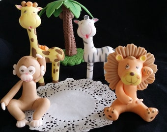 Jungle Cake Decoration, Safari Birthday, Jungle Cake Topper, Safari Cake Topper, Jungle Safari Topper, Jungle Cake Animal, Safari Decoration