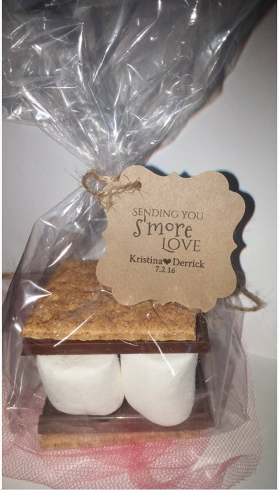 Wedding Favor Tag Kit : Wedding Favor Smores Kits for Weddings Parties Thank You Favors Tags ...