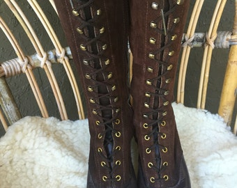 1960s Lace-Up Boots