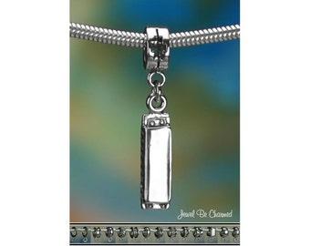 Sterling Silver Harmonica Charm or European Style Charm Bracelet .925