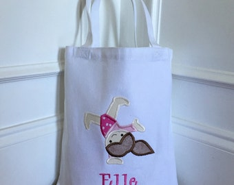 Personalized Gymnastics Bag / Tote - Pick Your Pose and Customizable Colors!