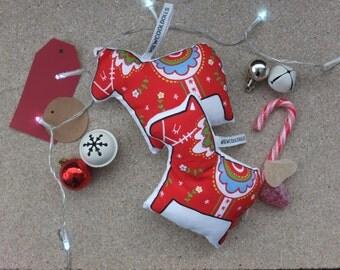 Handmade Dala Horse - Swedish Christmas Ornament