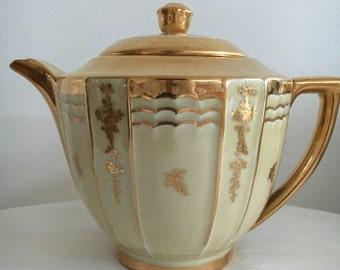 Limoges  A. Lanternier France  Art Nouveau style Teapot Coffee Pot  Elegant and Simply Beautiful!