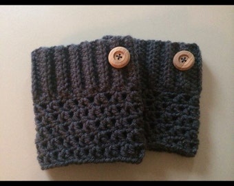 Crochet boot cuffs.