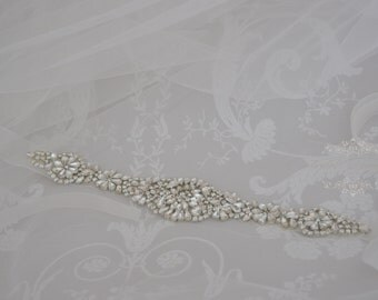 Crystal Bridal Sash-Wedding Dress Belt-Crystal Belt-Rhinestone Sash-Wedding Dress Sash,Vintage Style
