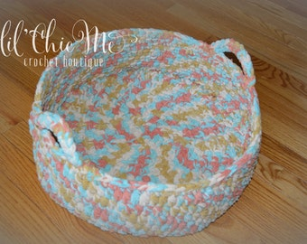 SALE! Crochet Basket~Photo Prop/Storage Basket