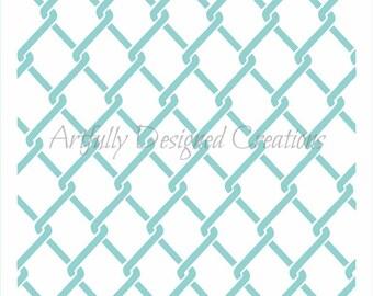Chain Link Stencil