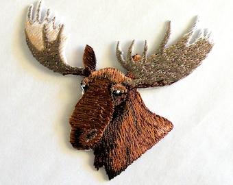 Moose Applique Etsy