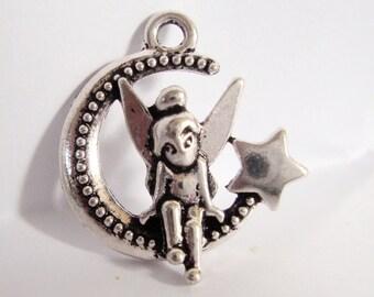 Fairy Moon Star charm
