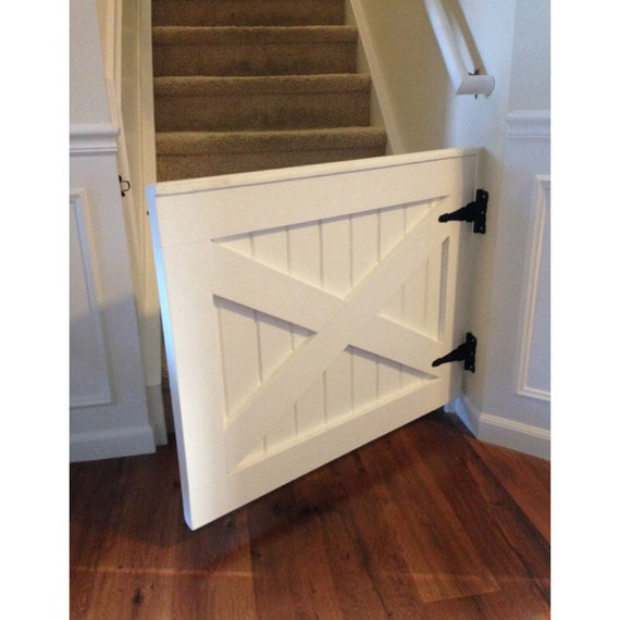 Painted X Design Barn Door Baby Dog Gate By Rustic Luxe