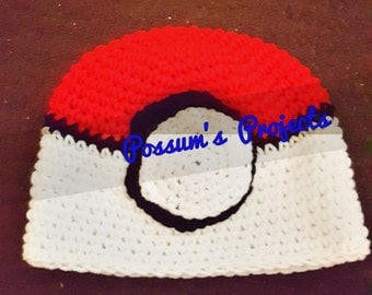 red/white ball hat