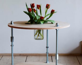 Coffee table with glass container NEW!