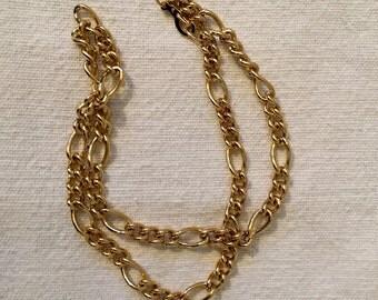 Vintage Park Lane Gold Tone Chain Link Necklace 16 Inches