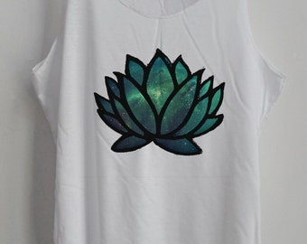 CLEARANCE Yoga Lotus Galaxy Tank Top Art  Shirt Shirt Women Shirt Fitness Tank Women T-Shirt Tunic Top Vest Yoga Workout Tank Size S,M,L
