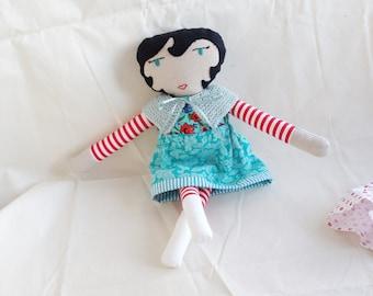 Folly Mae dressable cloth doll / heirloom rag doll / OOAK stuffed cuddly doll / waldorf-inspired handmade softie with clothes / LILLY