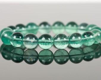 Green Fluorite Bracelet, Natural Fluorite Bracelet, Healing Gemstone, Gemstone Bracelet, Handmade Jewelry, Gemstone Jewelry
