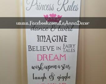 Princess Rules Sign