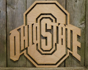 Ohio State logo wall hanging sign